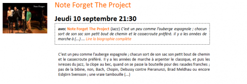 Note Forget The Project