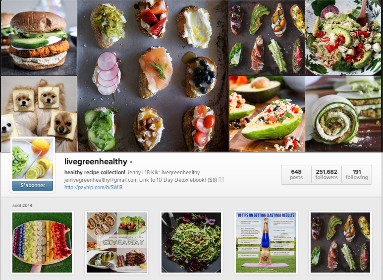 Livegreenhealthy instagram