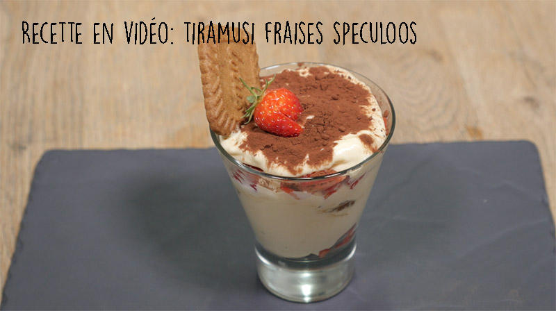 Recette En Video Tiramisu A La Fraise Et Aux Speculoos Par Le