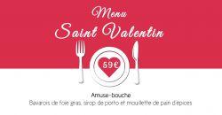 Menu de Saint Valentin - Le Cocon