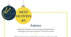 Menu de Fête 2017 - Le Cocon