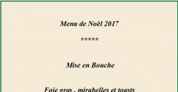 Menu du 24 Décembre 2017 - Aux Pesked Deauville