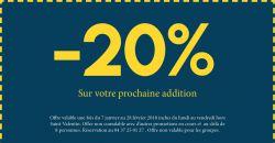 -20% sur l'addition - Le Cocon