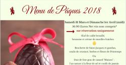 Menu de Pâques - L'Auberge de la Garenne