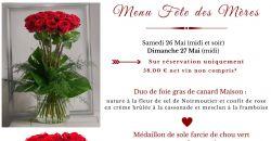 Menu Fête des Mères - L'Auberge de la Garenne