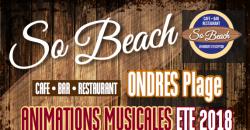 Animations musicales été 2018 - So Beach