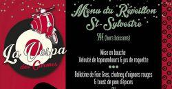 Menu du Réveillon St Sylvestre - La Vespa des Carmes