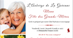 Fête des Grands-Mères - L'Auberge de la Garenne
