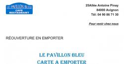 Vente à emporter - Le Pavillon Bleu