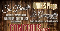 Concerts été 2021 - So Beach