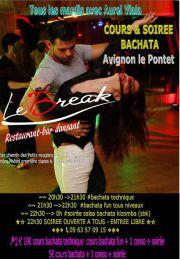 Mardi c'est cours et soirée bachata au Break restaurant bar à Avignon le Pontet