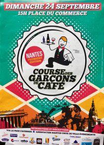 Course de garçon de café place du commerce à Nantes