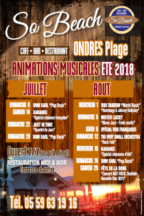 Animations musicales été 2018