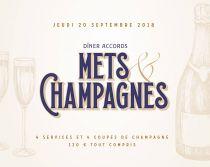Dîner accord mets & champagnes