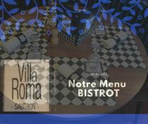 Notre menu Bistrot