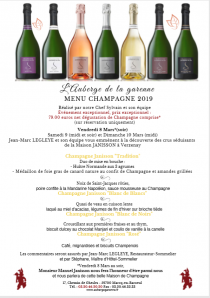 Menu Champagne 2019