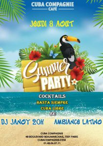 Summer Party au Cuba Compagnie!!