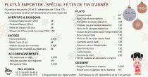 Plats à emporter - SPÉCIAL FÊTES DE FIN D'ANNÉES