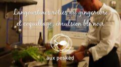 Vidéo - Langoustines rôties au gingembre et coquillage, émulsion blé noir