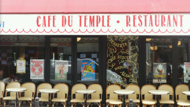 Café du temple à Paris