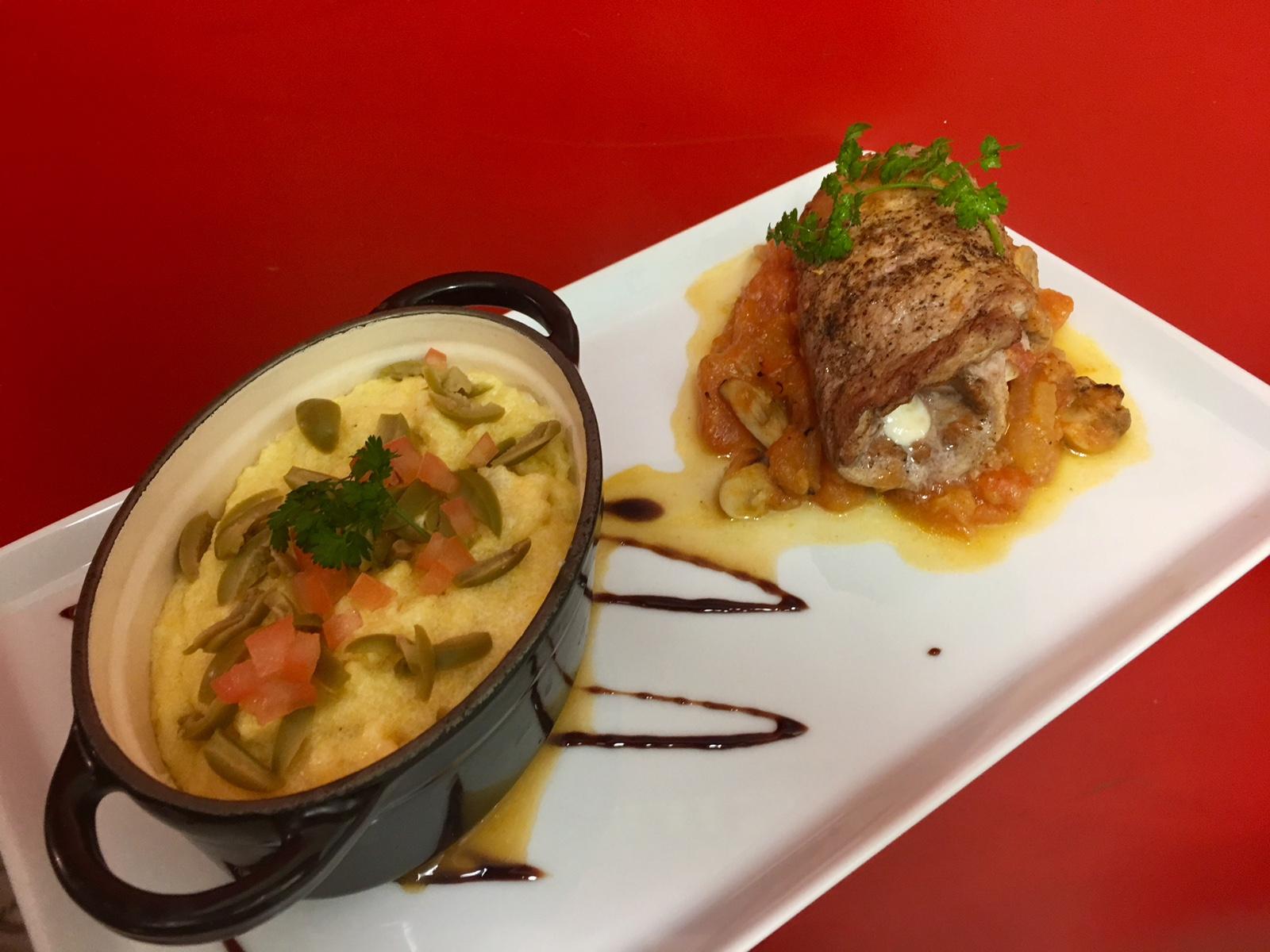 Saltimboca et polenta crémeuse au parmesan