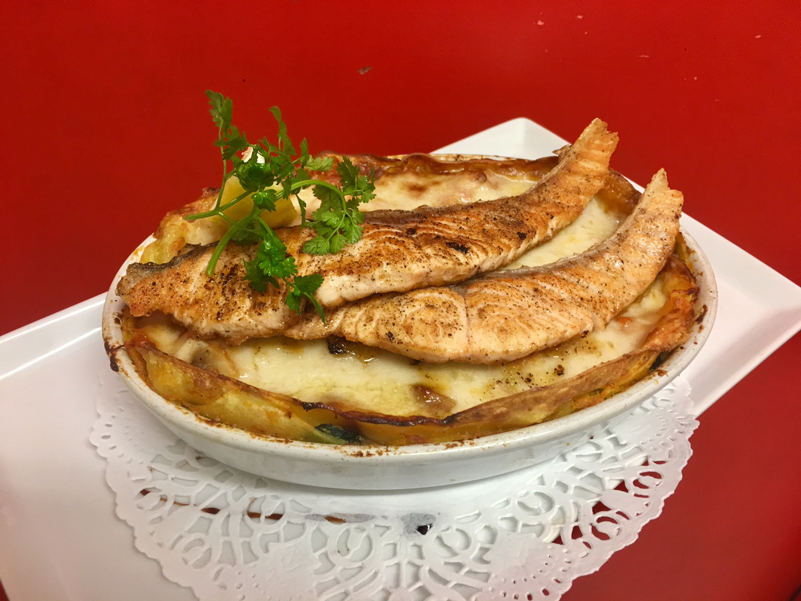 Lasagnes ricotta, épinard et Saumon