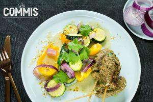 Kefta-&-Légumes-Grillés-au-Sésame-Doré-Les-Commis
